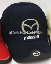 Load image into Gallery viewer, New arrived Mazda hat F1 race hat baseball cap wholesale red black beige blue colure