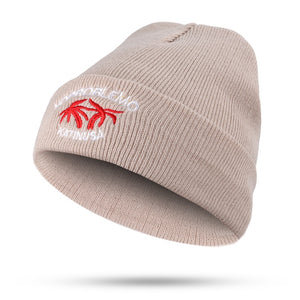 New fashion embroidery coconut tree beautiful letters ladies autumn and winter knitted cotton hats warm women ski caps Beanies