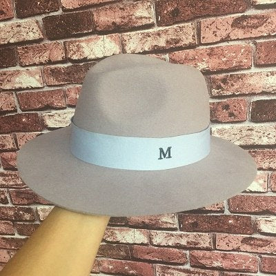 New winter wool? Sir Mo fresh fashion wind in England brim hat show skin Bai Xiaoli hats for men and women Fedoras
