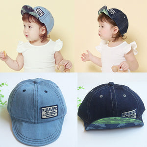 New2017 Top Fashion Hot Summer Letter Embroidery Tide Denim cute Cap Baseball Sun Hat kids baseball caps casquette de marque