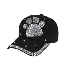 Load image into Gallery viewer, NewFashion Especially Hot Sale New Fashion Baseball Cap Rhinestone Paw Shaped Boy Girls Snapback Hat casquette de baseball