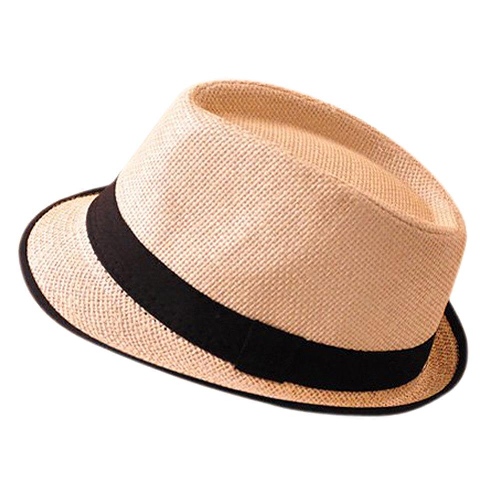 Newest Black Brim Exquisite Candy Color Belt Decorated Simply Designed Sun Hat For Men and Women