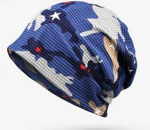 Newly Fashion Hats Multi Soft  Breathable Hats for Men Women Beanies For Ladies Summer Hat Thin Camouflage Hip Hop Beanies