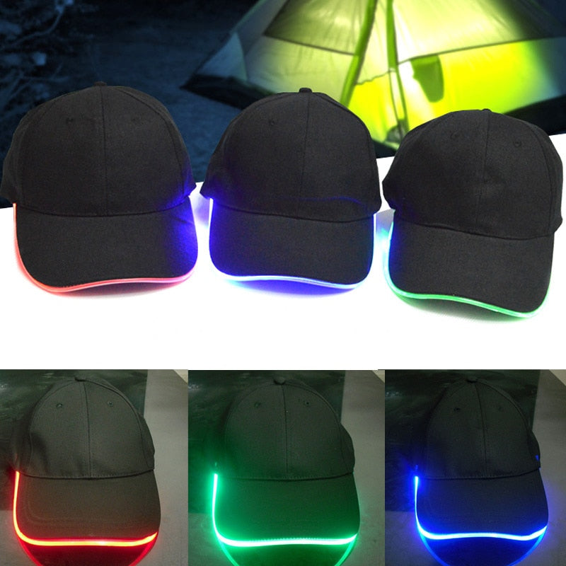 Nig Fishing Lig Baseball Flash Dance Glow In The Dark Hip Hop Fashion Sport Fitted Hat Led Cap for Unisex  Shop -MX8