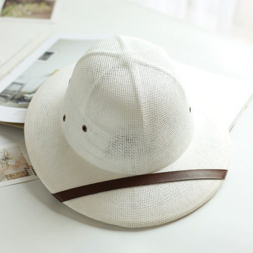 8b6c8c2fab3b8 Novelty Toquilla Straw Helmet Pith Sun Hats for Men Vietnam War Army Hat  Dad Boater Bucket
