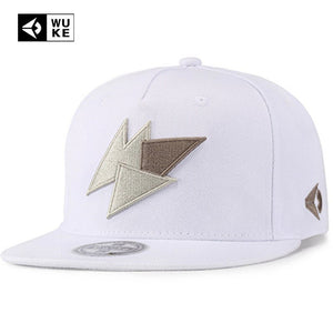Novelty White Embroidery Cap Snapback Hip Hop Caps For Men Women 6 Panel Full Cap Hat Baseball Straig Brim Hats Dropshipping