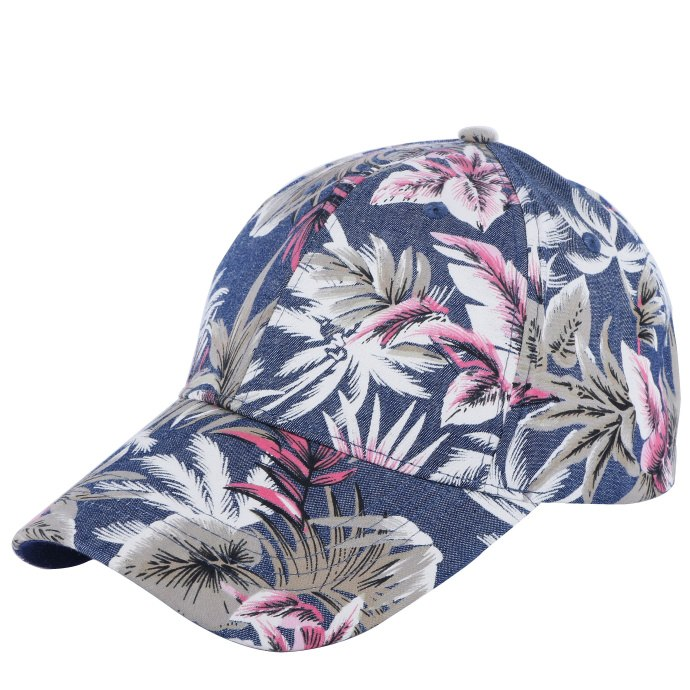 100% cotton high quality men women casual baseball cap hat print floral style adult  size boy girl beauty caps