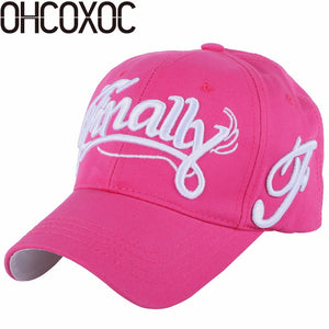 570d23c7 100% cot women men fashion new baseball cap hat embroidery letter Best  quality fuchsia white black navy casual caps