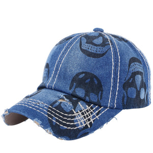 wholesale men women novelty baseball cap denim hats print skull style outdoor girl boy sports caps