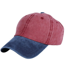 Load image into Gallery viewer, wholesale unisex casual hats caps patchwork color washable cot denim style outdoor sports women men baseball cap