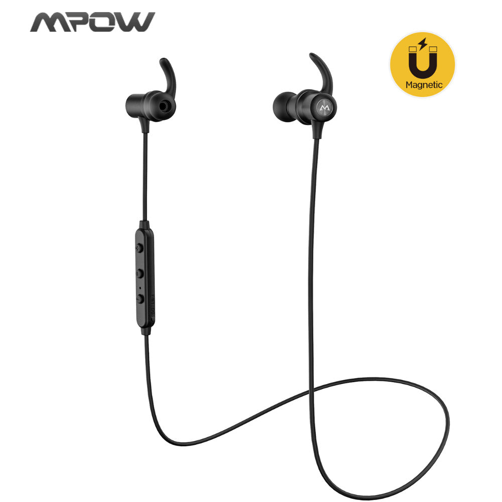 Original  S6 Bluetooth 4.1 Earphones APTX Magnetic Wireless Earbuds IPX6 Sweatproof Sports Earphones with Mic 7H Music Time