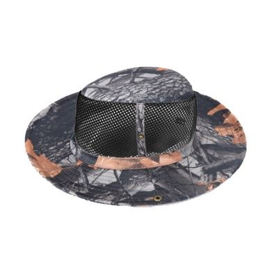 Outdoor Fishing Camping Hiking Sun Cap Round Rim Brim Men Women Hat Black Maple Leaf