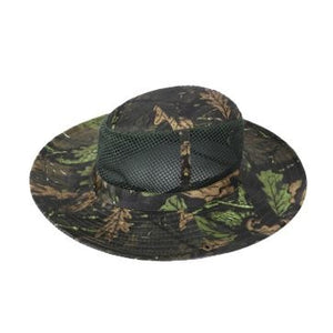 a974d08192c Outdoor Fishing Camping Hiking Sun Cap Round Rim Brim Men Women Hat Black  and green maple leaves