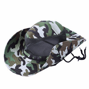 Outdoor Sports Fishing Hat Camouflage Bucket Hat Fisherman Camo Jungle Bush  Hats Boonie UV Protection Wide Brim Sun Caps bcda815941ef