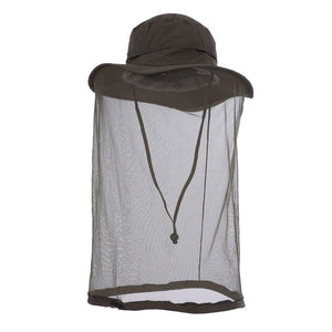 Outdoor fishing fisherman hat army green khaki outdoor sunscreen insect proof mosquito cap mesh protection facial cap