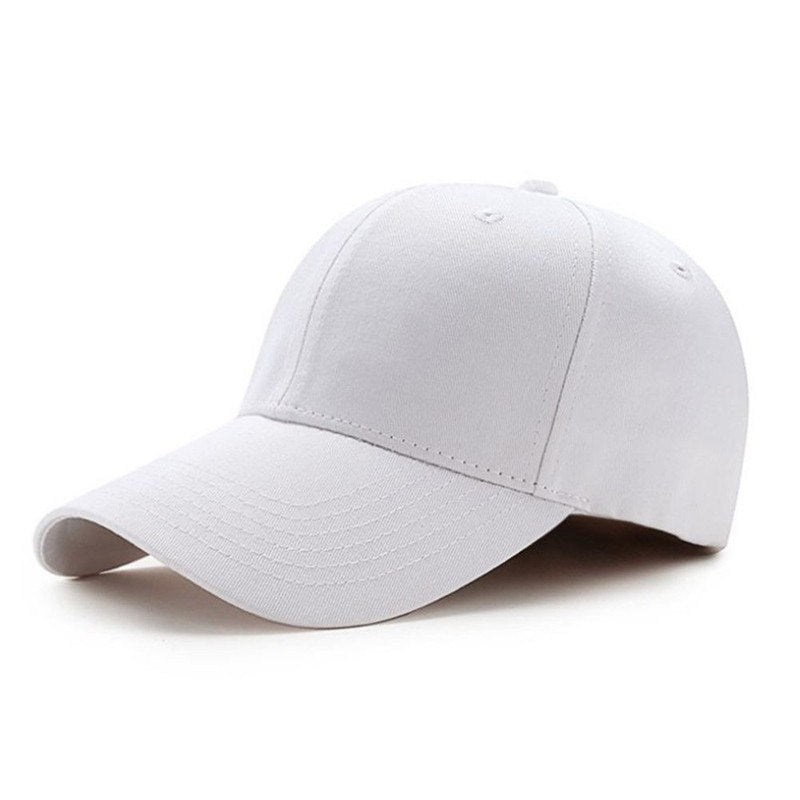 POP Men Women Baseball Cap Blank Plain Solid Snapback Golf ball Hip-Hop Hat