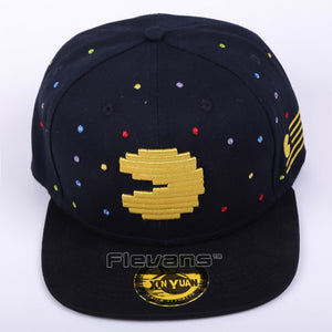 Pacman Snapback Hat & cap fashion Adjustable Gho And Pac Man Baseball Cap Unisex 2 Styles