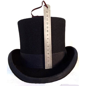 Patchwork Steampunk Victorian Formal Top Black Hat Wo Felt Vintage Magician Fedoras Mad Hatter President Bowler Hat