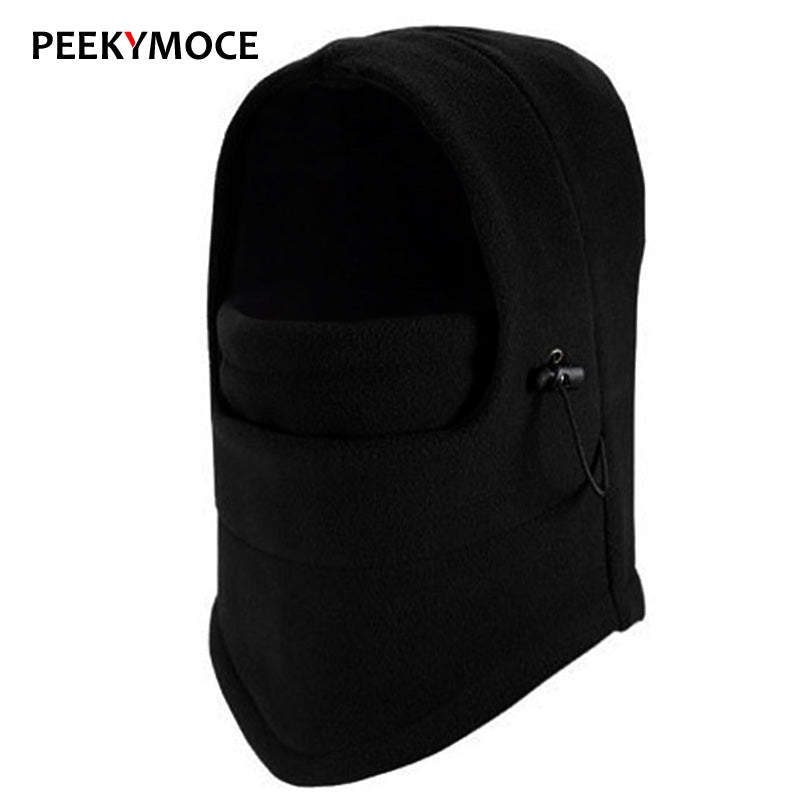 Winter Balaclava Ski Mask Cycling Face Mask  Casual Winter Hat Men Warm Solid Women Beanies For Men Black Hat Female