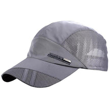 Load image into Gallery viewer, Plain Mesh Snapback Baseball Cap Quick Drying Hats for Men Cotton Casual Caps Breathable Fitted Belt Adjustable Dad Hat