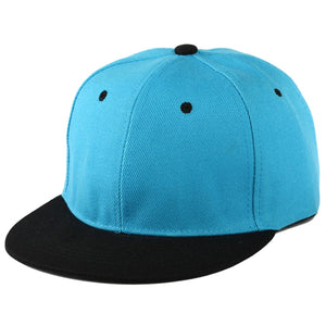 Plain Snapback Hat Caps Flat Peak Funky Retro Baseball Cap Hip Hop Hats Vintage Blue Red