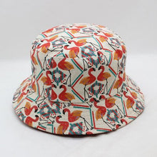 Load image into Gallery viewer, Printed Floral Two-sided Fisherman Summer Bucket Hat Women Wide Brim Fishing Waterproof Sun hats Protection Uv Folding Basin Cap