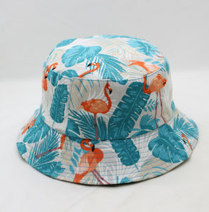 Printed Floral Two-sided Fisherman Summer Bucket Hat Women Wide Brim Fishing Waterproof Sun hats Protection Uv Folding Basin Cap
