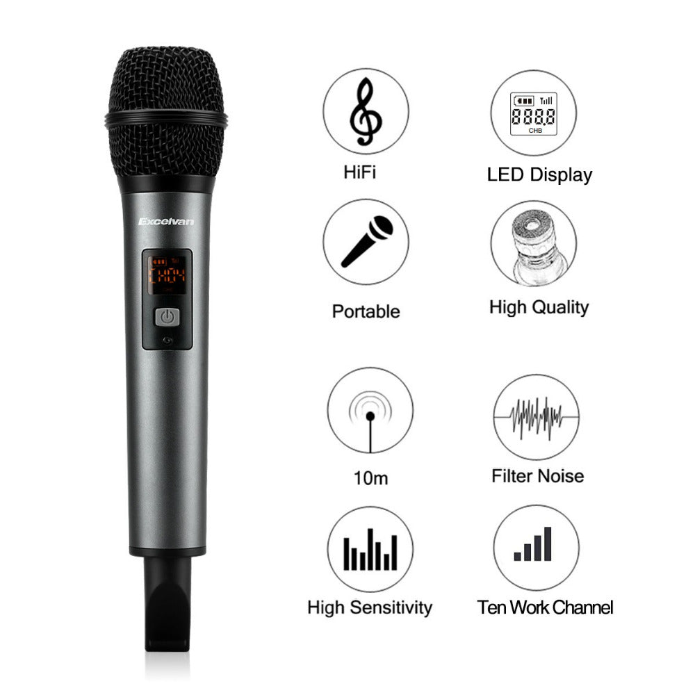 Professional  for K18V Portable Bluetooth Wireless Microphone With Receptor for Bar KTV Home Party Speech Presentation