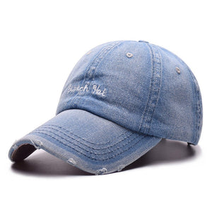 Denim Solid Blue Jeans Baseball Cap Cowboy Dad Hats Curved Ball Cap Embroidery Vintage Hat Summer Outdoor Sport Caps