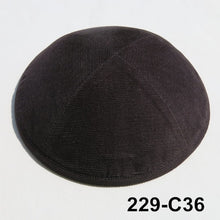 Load image into Gallery viewer, Purchaes less than 10pc,Corduroy kippot.19cm,Four panels, Jewish  Kippah, Yarmullke,Beanie hat ,skull cap,kipot,kipa