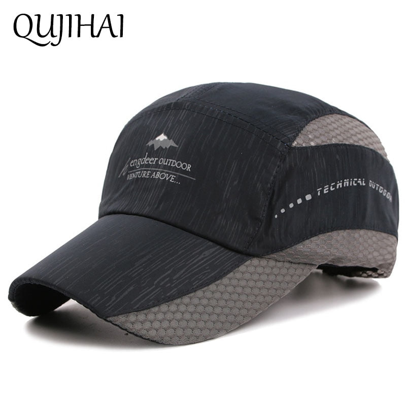 Summer Mesh Cap Sun Hat Shade Fishing Baseball Cap Men Sports Snapback Caps Casquette Homme
