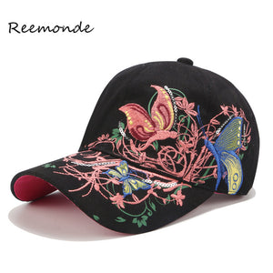 Summer Embroidered Baseball Cap  Fashion Shopping Cycling Visor Sun Hat Cap For Women Lady