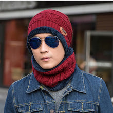 Load image into Gallery viewer, 2020 Newe Winter Acrylic Beanies For Man Fashion Casual Skullies Inner With Velvet & Faux Fur Gentleman Skull Hat