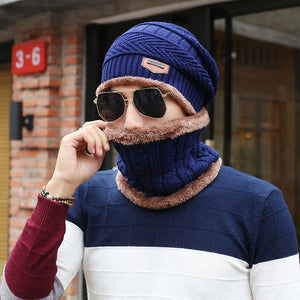 2020 Newe Winter Acrylic Beanies For Man Fashion Casual Skullies Inner With Velvet & Faux Fur Gentleman Skull Hat