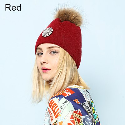 403bed5af29 2018 New Flower Rabbit Beanies Warm Winter Hats For Women Real ...