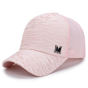 [Rancyword] 2017 New Fashion Baseball Caps For Women Summer Mesh Cap Hats Adjustable Bone Solid Color Hip Hop Hat Lady RC1180