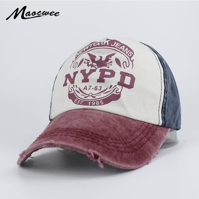 Recreation Washed Retro Baseball Cap NYPD Fashion Baseball Cap Snapback Hat  Cap Men Women Casual Adjustable Hats Bone Gorra 2018 1f9db630525