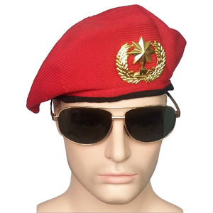 Red Security Berets Caps For Adult Men Kids Stage Performance Sailor Navy Cap Military Hats
