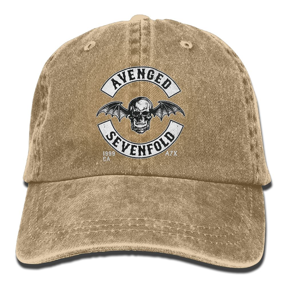 Avenged Sevenfold 3D Creative personality Washed Denim Hats Autumn ... ccde5d69731