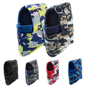 SANDMAN Add Wo Fleece Balaclava Women Camouflage Waterproof Winter Hat Windproof Ski Beanie For Men Hooded Sports Face Mask