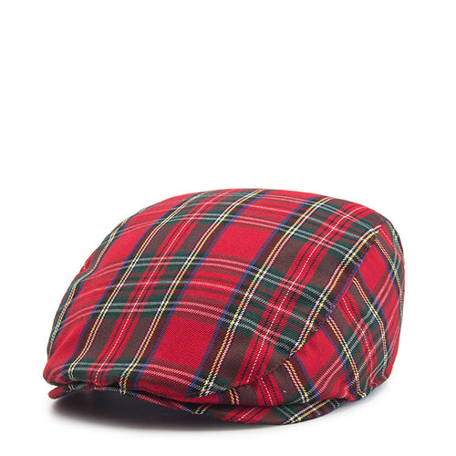 Beret Men Cotton Plaid Flat Caps Male British Vintage Berets Cap Khaki Spring Summer Women Brand Driver Cap