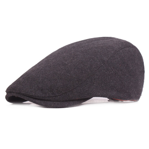 Brand Burgundy Wo Tweed Caps For Women Men Vintage Warm Winter Beret Flat Cap Casual Gifts British Caps And Hats