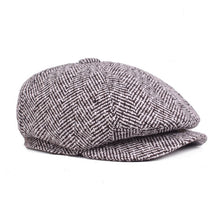 Load image into Gallery viewer, Men Newsboy Hat Women Herringbone Flat Cap 2020 Autumn Winter Brown Vintage Brand Cap Gatsby Beret Hat