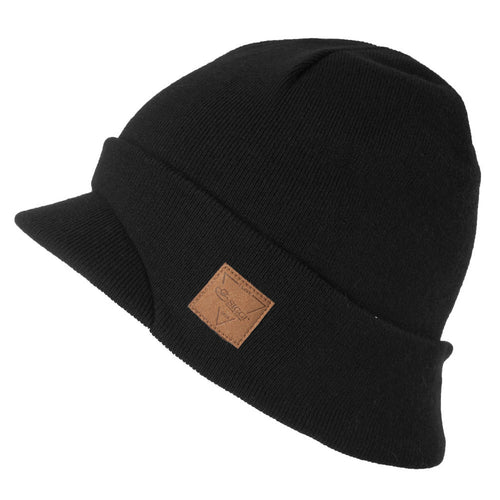 Winter Warm 2017 Brand Solid 6 Colors Men Beanies Soft Bill Hat Wo Blend Brim Decoration Casual Skullies Caps 88264