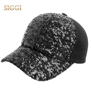 Women Baseball Cap Sequin Mom Hat Cot Snapback Adjustable Strap Comfortable Bling Visor Gorras Casual 2020 New 69343