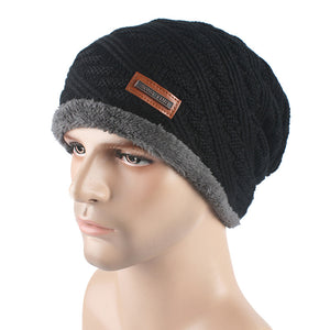 Men's New Style Fashion Winter Hat Skullies Beanies Man Hat Knit Hat Cap For Men Beanie Pure Color Headgear Cheap Caps