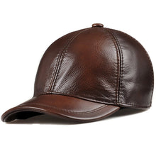 Load image into Gallery viewer, Wholesale 2020 Spring Genuine Leather Adjustable Solid Deluxe Baseball Ball Cap brand new men's hats/caps Man/Woman