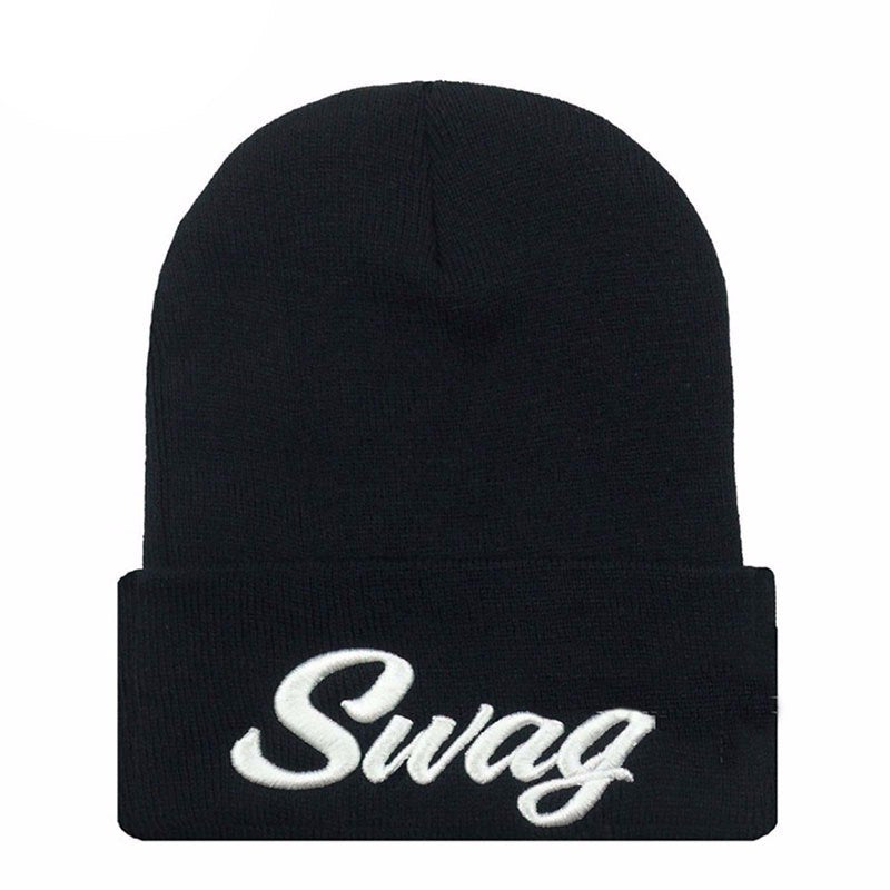 SWAG Hip Hop Letter Hats Women Cheap Beanies Knitting Bonnet Men Wo Warm Mens Winter Snowboard Warm Gorro Snowy Hat M0527