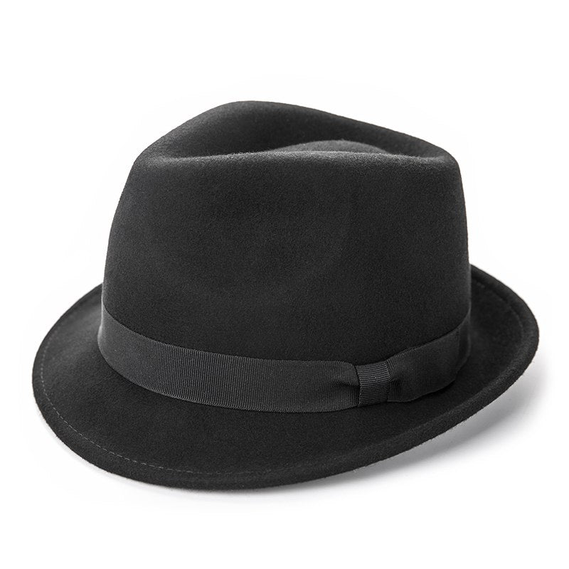 2ec9132fab New Classic Trilby Hat Male Fedora Hat with 100% Australian Wo Men Hat –  oePPeo - Master of Caps & Hats