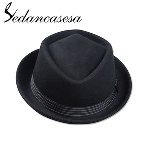 Winter Autumn Fedora Hats Keep Warm Christmas Gifts Fashion Hats For Men Australia Wo Felt Hat 57-59CM FM002052